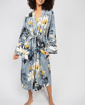 Rachel Floral Print Long Dressing Gown