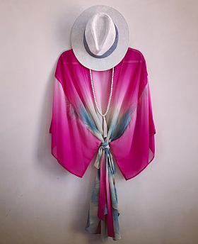 Tropical Pink Short Kimono